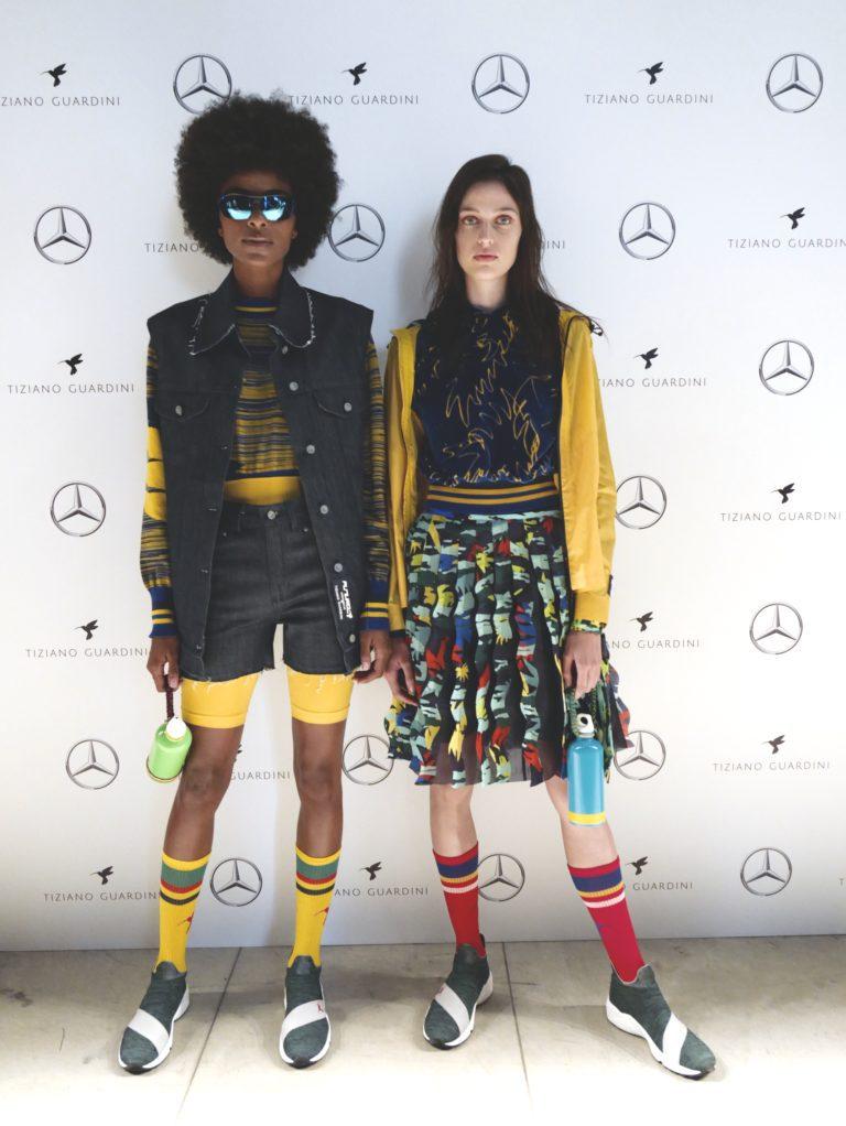Tiziano Guardini porta neon, palme e sostenibilità alla Milano Fashion Week