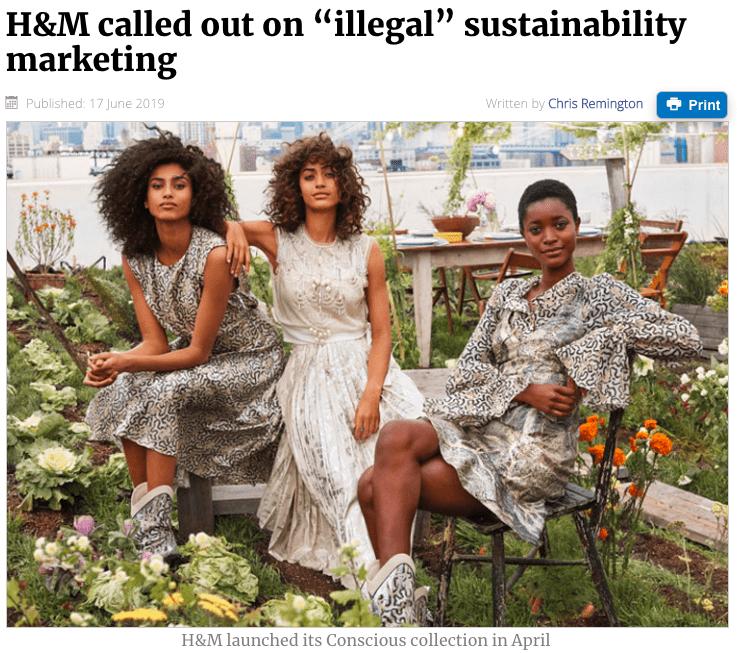 H&M richiamata per pubblicità (sostenibile) ingannevole